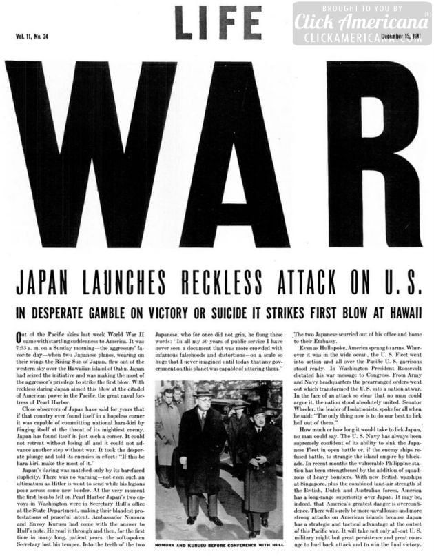 War: Japan launches reckless attack on US (1941)