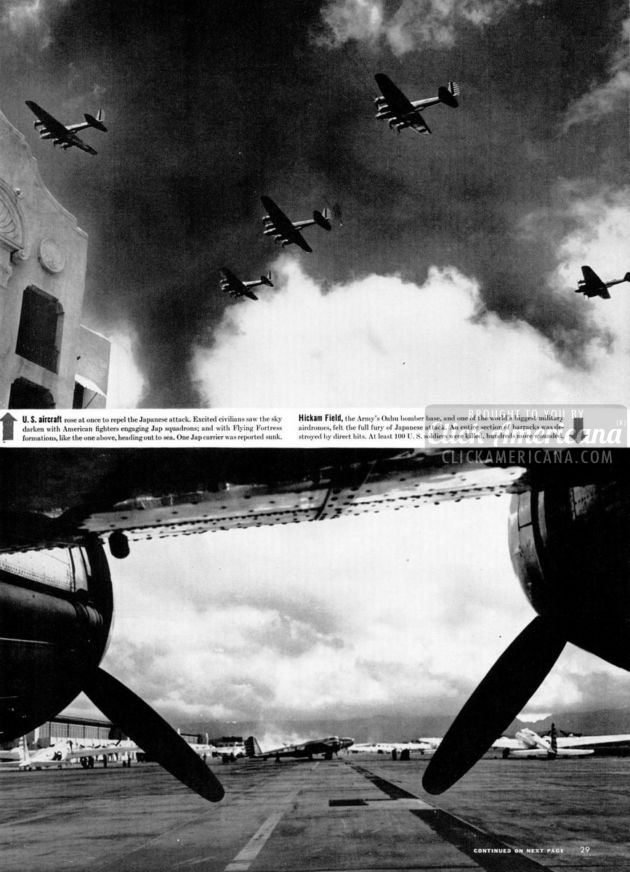 Japan attacks Pearl Harbor - WWII - Life Dec 1941 (6)