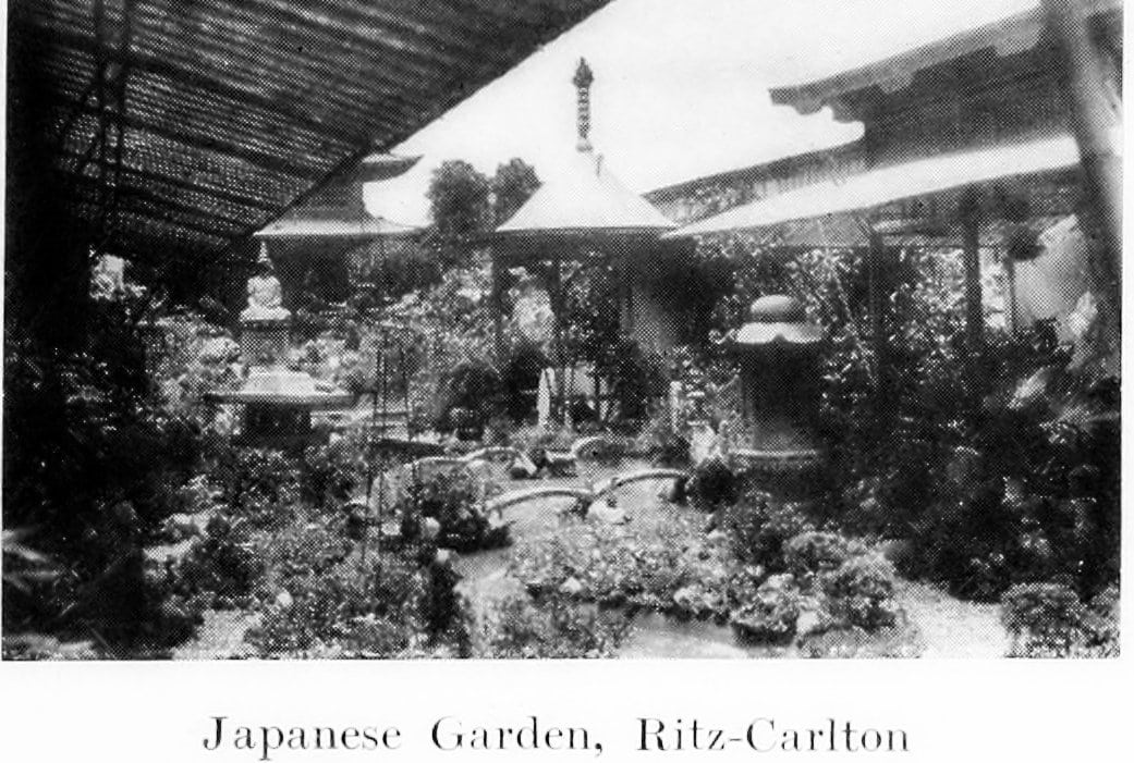 Japanese Garden at the old Ritz-Carlton Hotel in New York (1918)