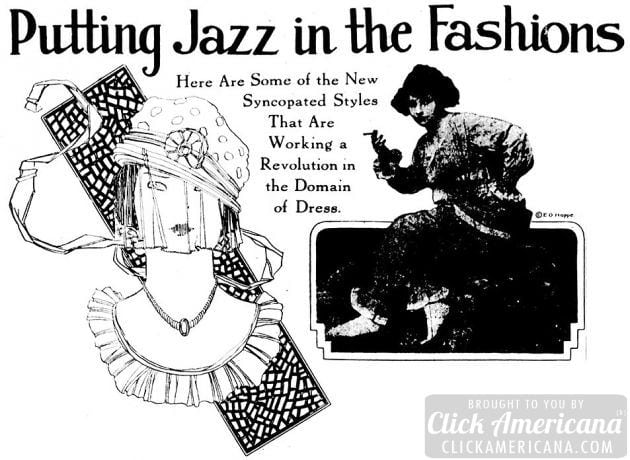 Jazzy flapper fashions from 1920