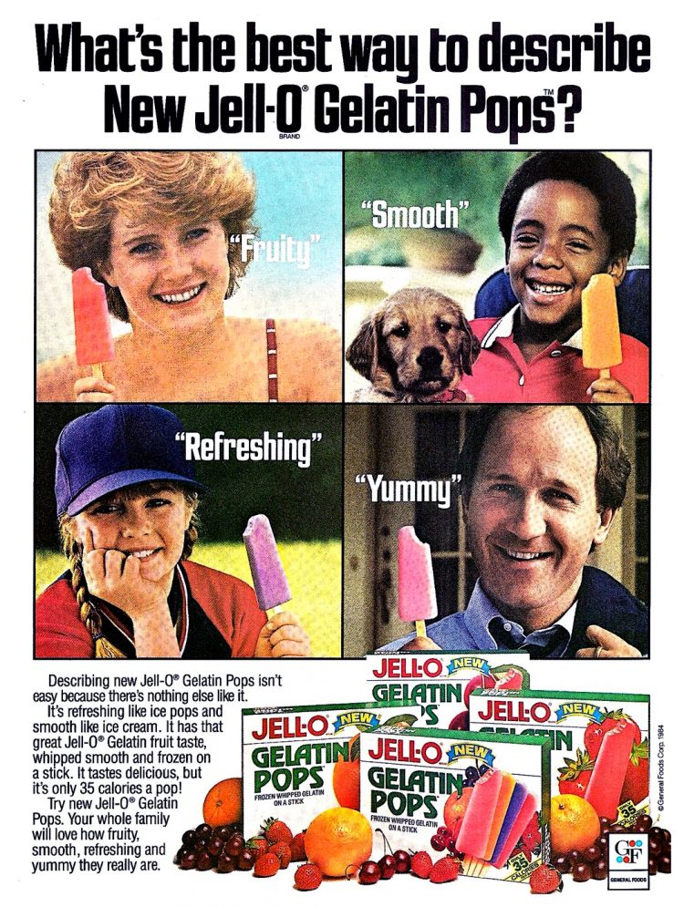 Jell-O Gelatin pops from 1984