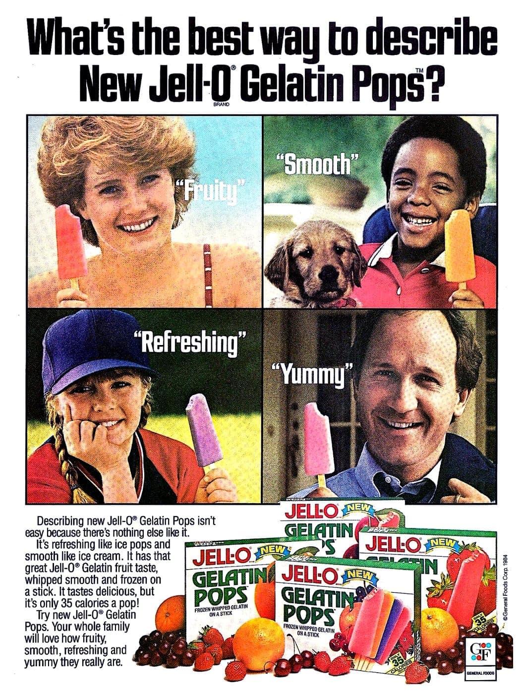 Jell-O Gelatin pops from 1984