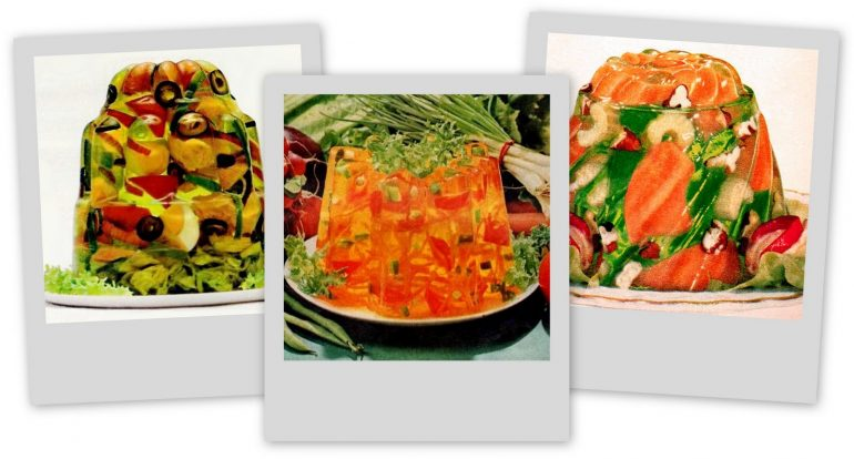 Jell-O Salad Gelatin Would you eat jello in celery mixed vegetable flavors (1964)