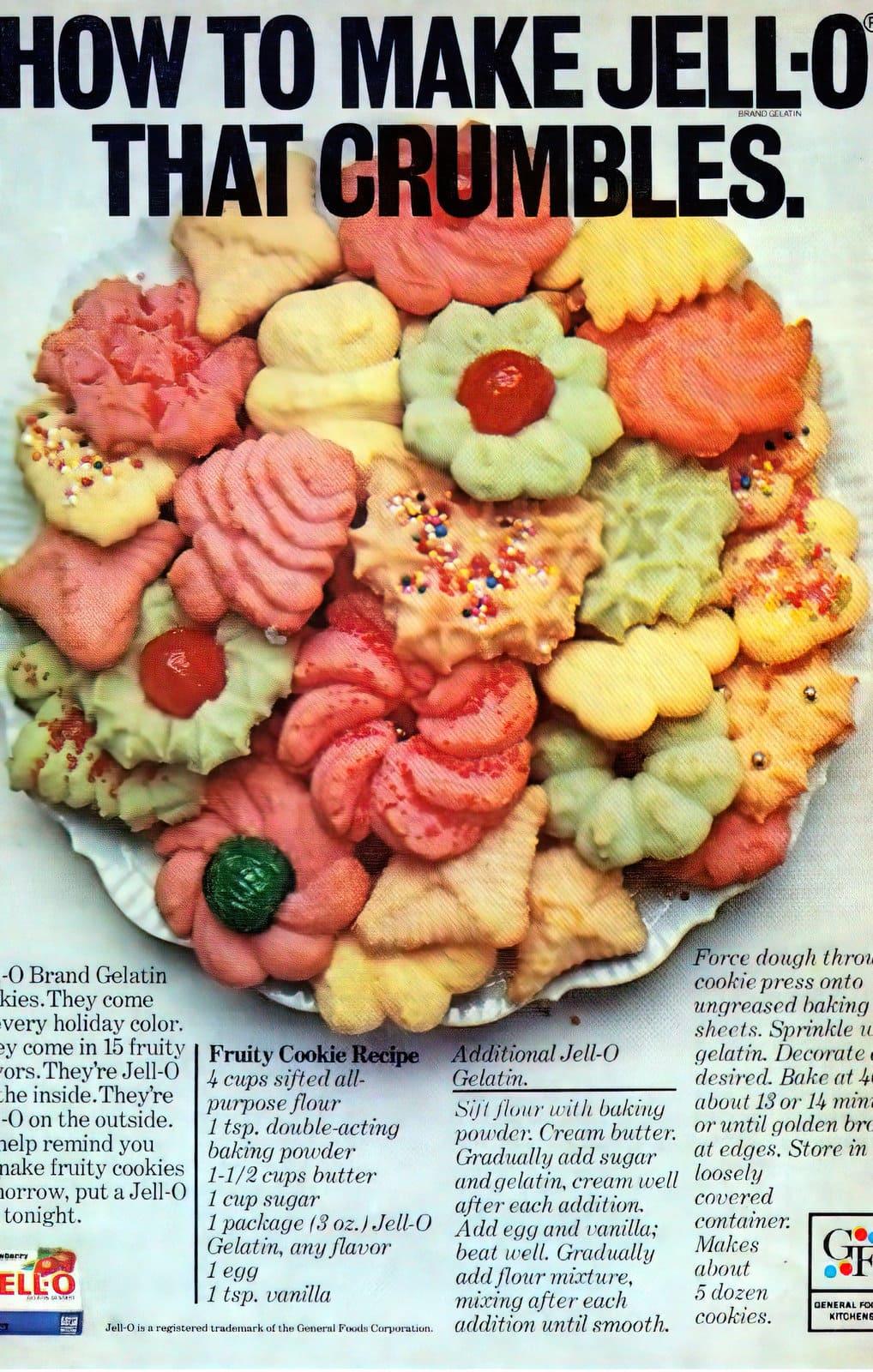 Jell-O fruity cookie recipe