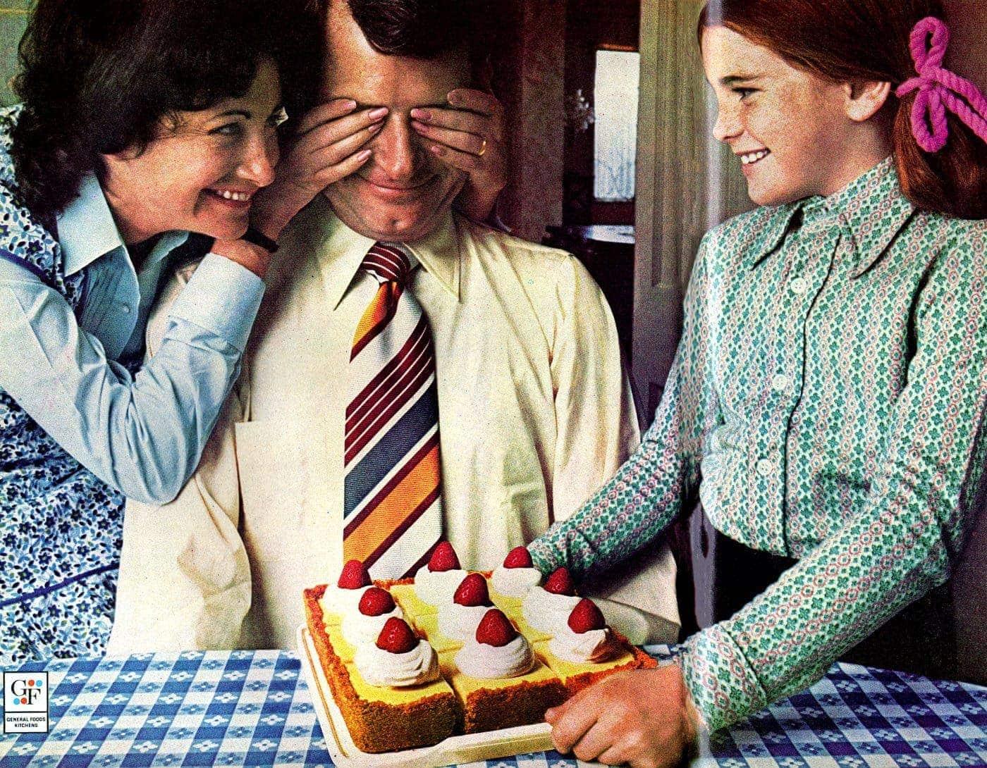 Jell-O no-bake pudding cheesecake retro recipe (1972)