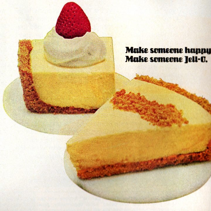 Jell-O no-bake pudding cheesecake retro recipe