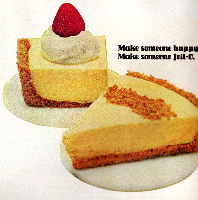 Jell-O no-bake pudding cheesecake retro recipe