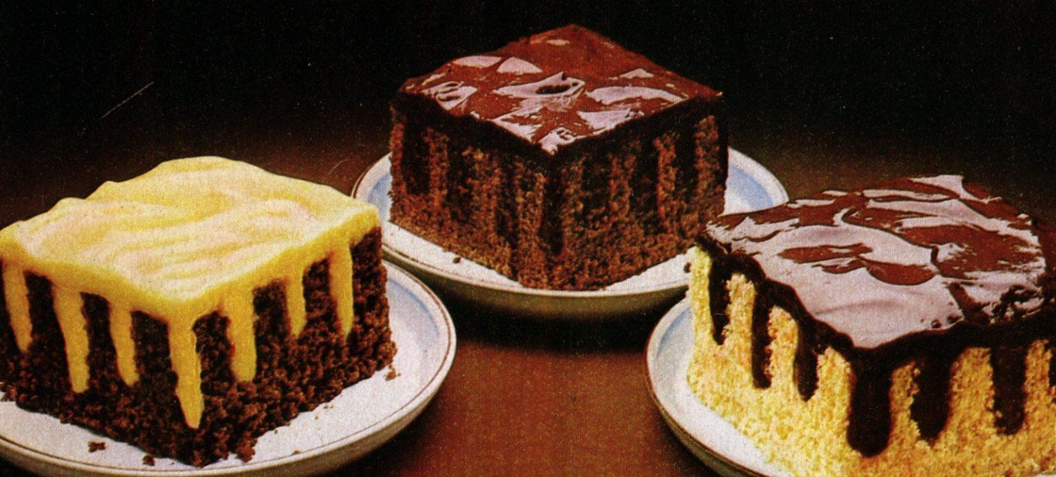 Jell-O pudding Stripe-It-Rich poke cakes