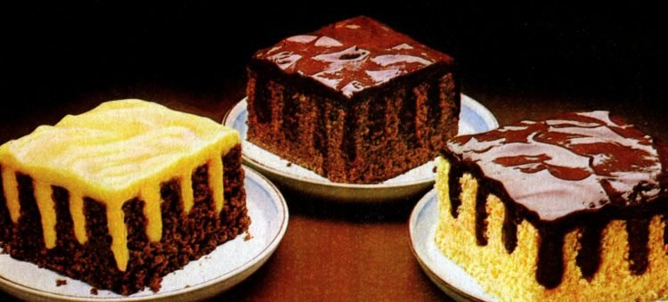 Jell-O pudding Stripe-It-Rich poke cakes (1982)