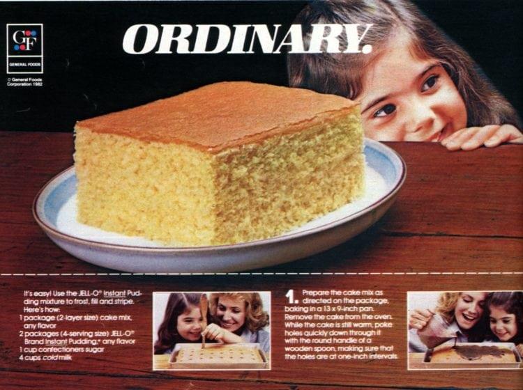 Jell-o Pudding Stripe-It-Rich poke cakes recipe