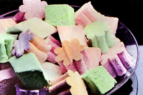 Homemade pastel marshmallows made with Jello