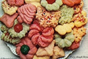 Jello spritz cookies - Fruity cookie retro recipe