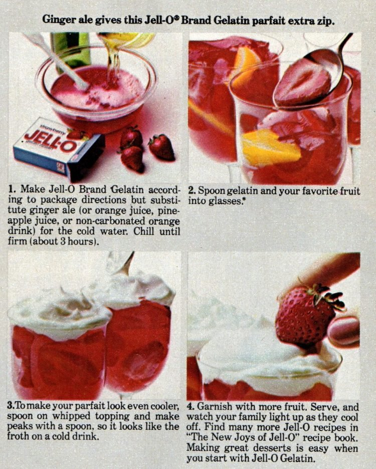 Jello treats and dessert recipes from 1974 (2)