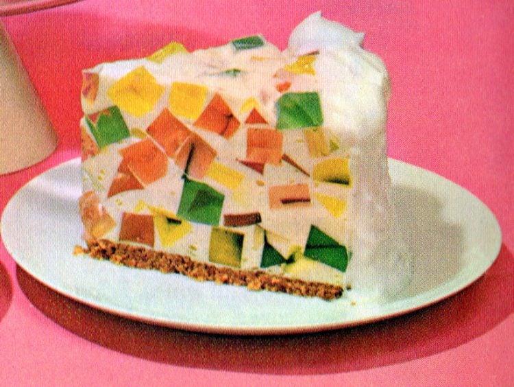 Jell,O Crown Jewel/Window Glass retro desserts (1960s