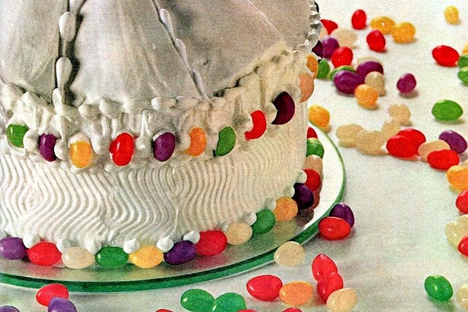 Jelly bean carousel cake - 1965