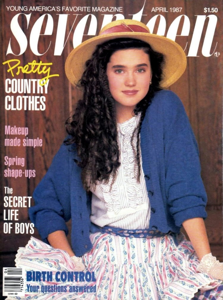 Jennifer Connelly on the cover of Seventeen - April 1987