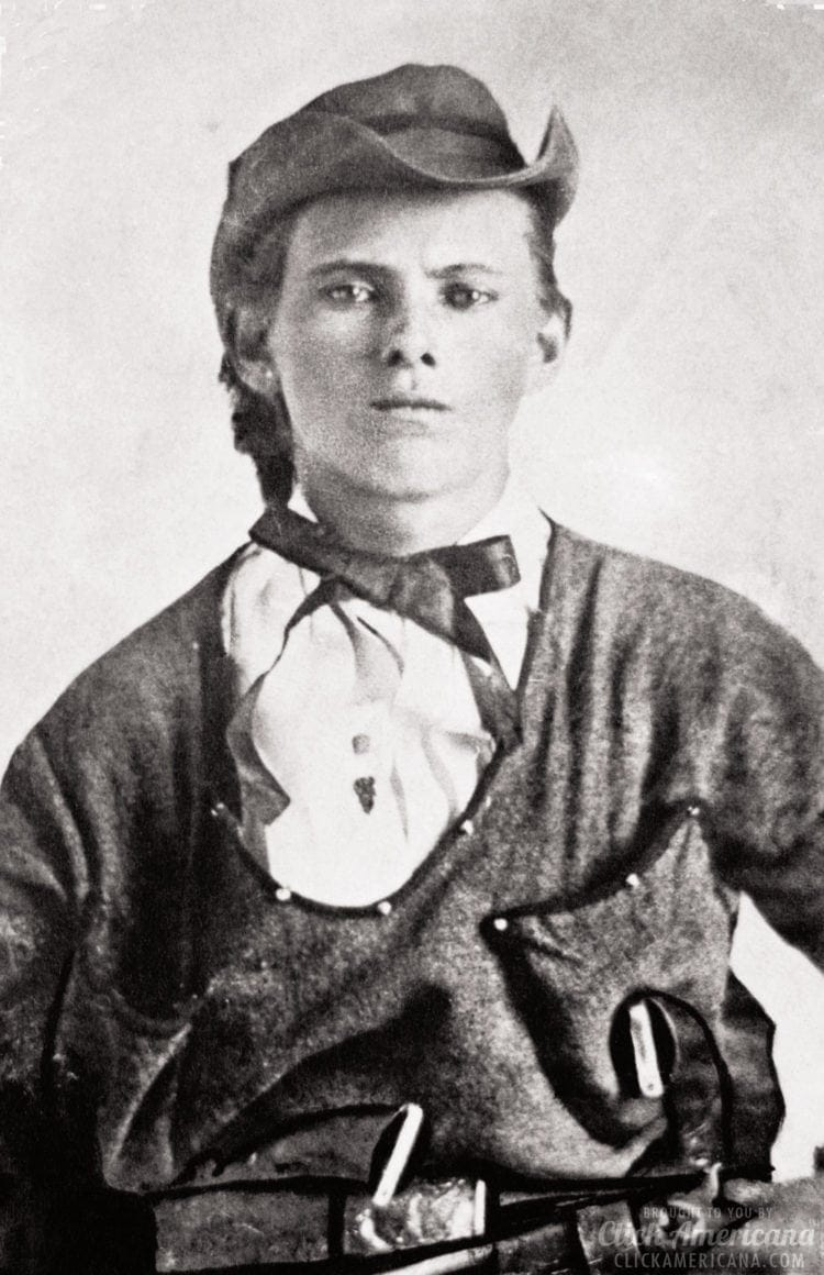 Jesse James age 17 in Quantrill's Raiders uniform 1860s