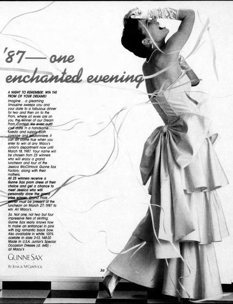 5e07ef1d475 Gunne Sax prom dresses of the eighties - Click Americana
