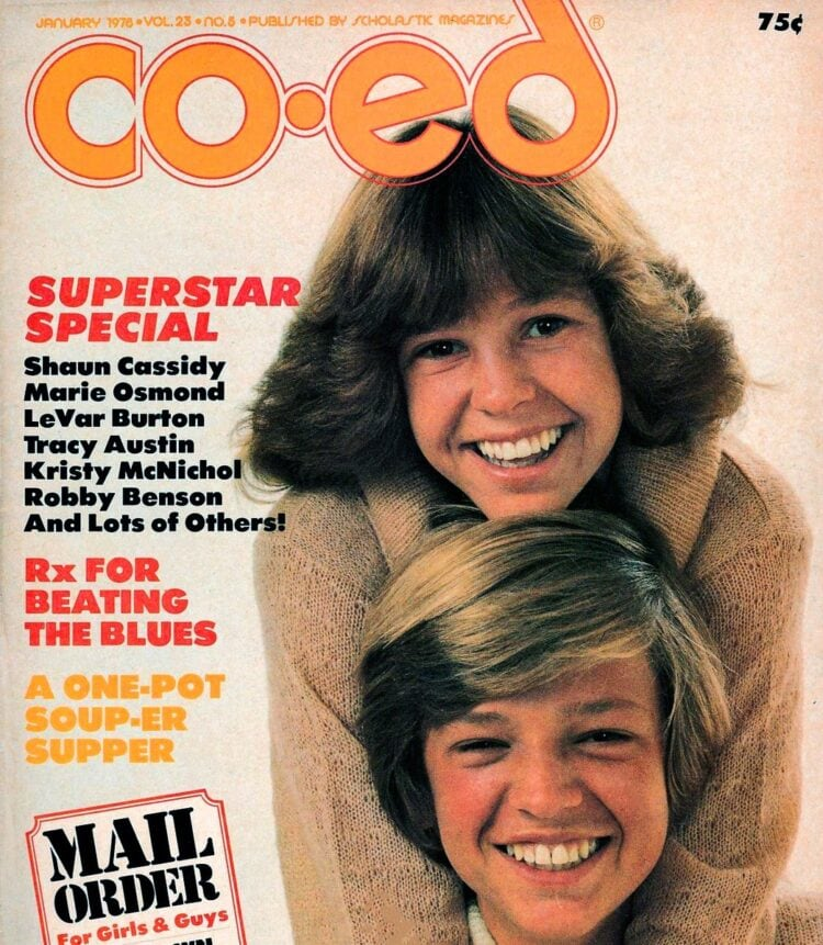 Jimmy and Kristy McNichol on cover of Co-Ed magazine 1978