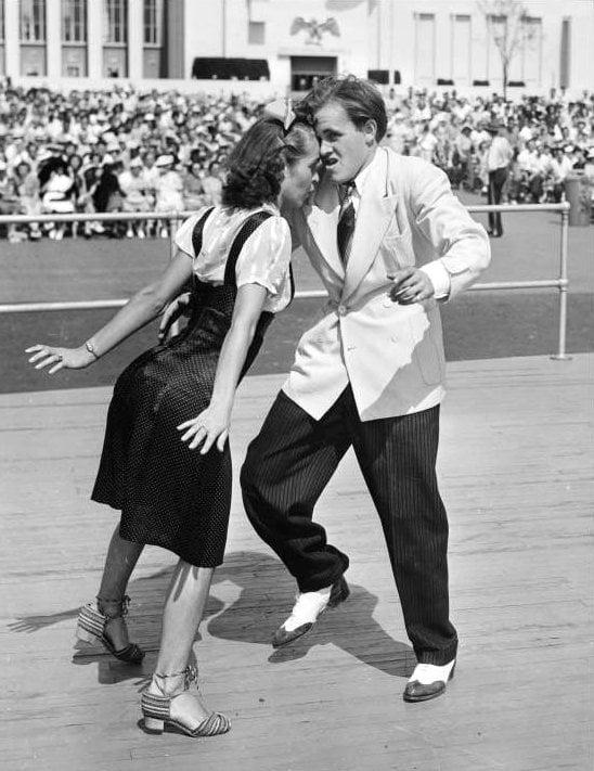 Jitterbug dance couple c1939
