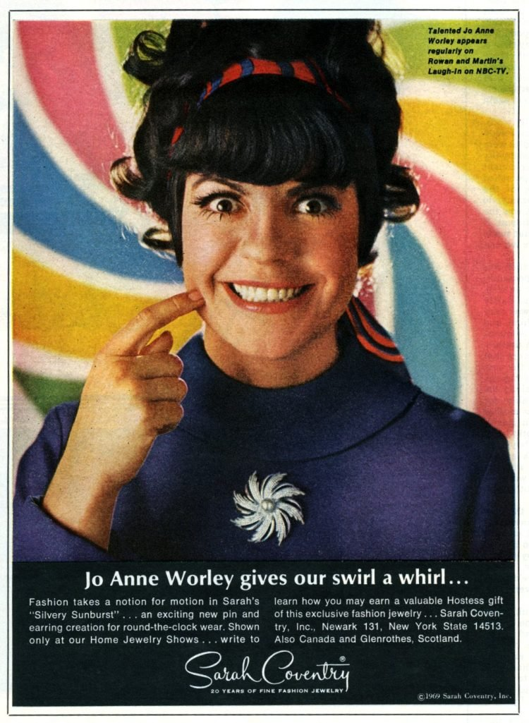 Jo Anne Worley of Laugh In from 1969