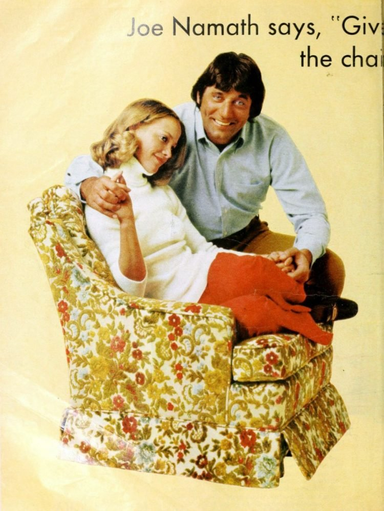 Joe Namath for La-Z-Boy Rocker 1974 (1)