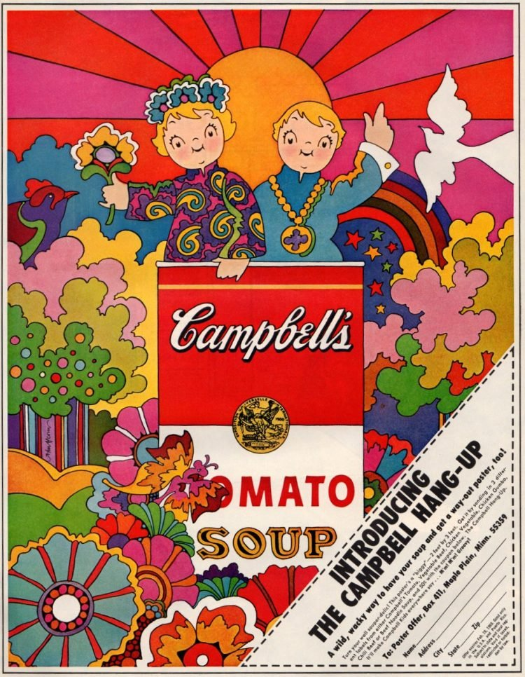 John Alcorn's psychedelic Campbell's Tomato Soup Poster was so very sixties
