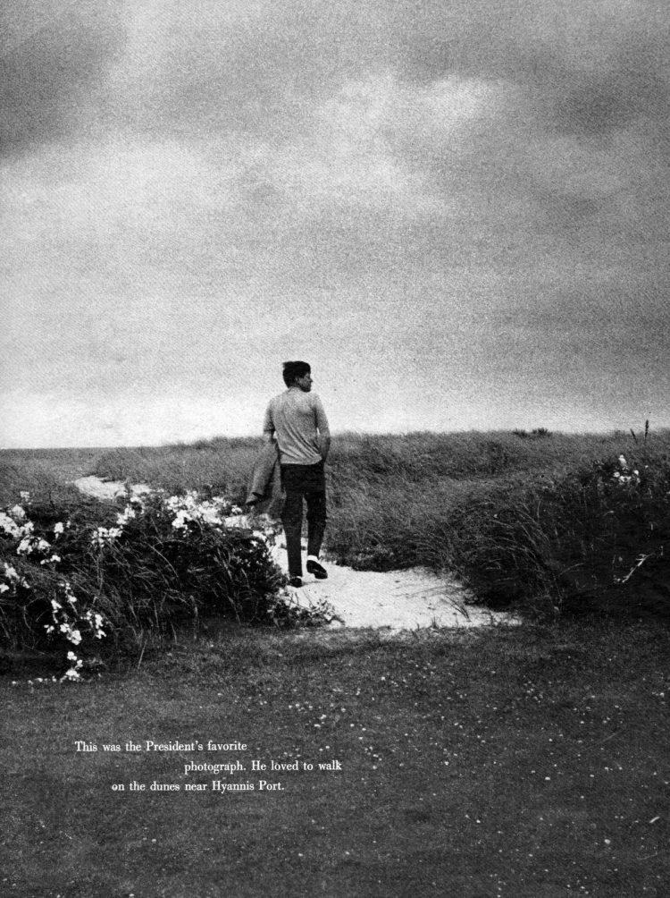 John F Kennedy's favorite photo - walking on the dunes