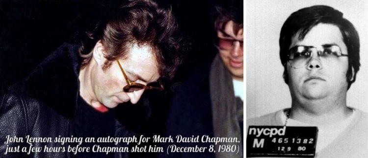 John Lennon and Mark David Chapman