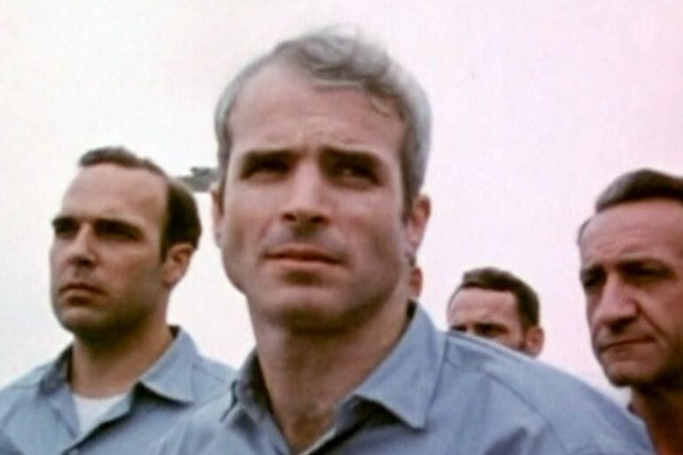 John McCain after being released in 1973