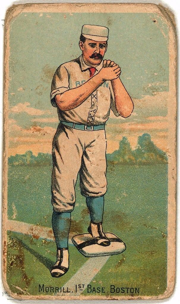 John Morrill, Boston Beaneaters, baseball card portrait 1887