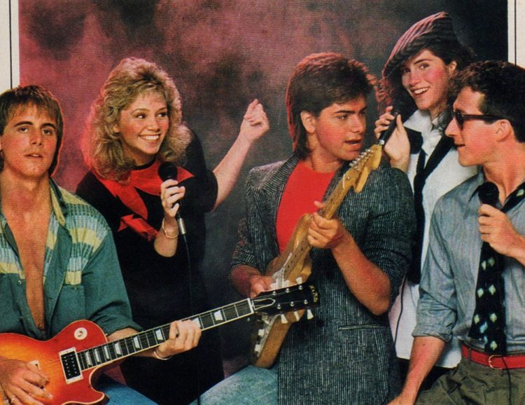 John Stamos and the cast of Dreams - 1984 TV show