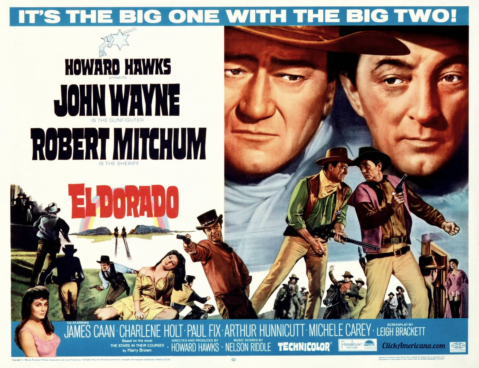 John Wayne and Robert Mitchup in El Dorado movie (1966)