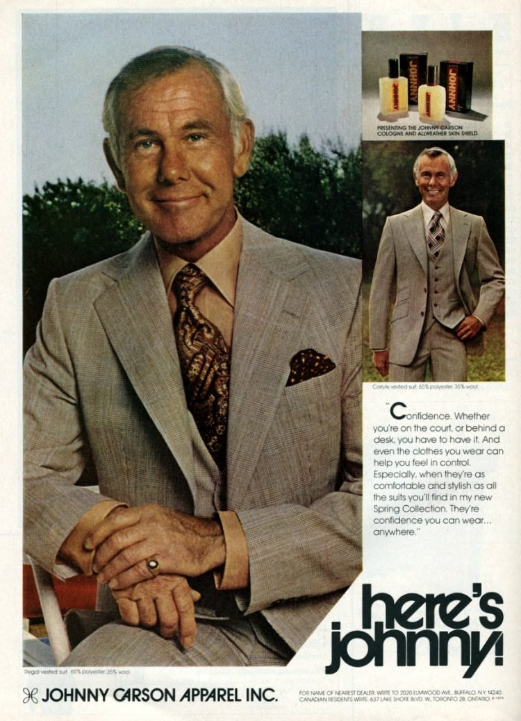 Johnny Carson - 70s fashion