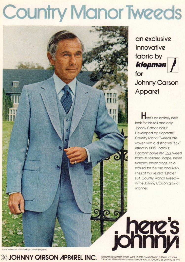 Johnny Carson Estate Vested suit from the seventies