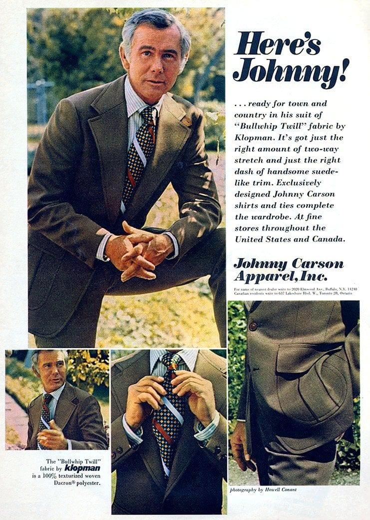 Johnny Carson vintage Bullwhip Twill suit