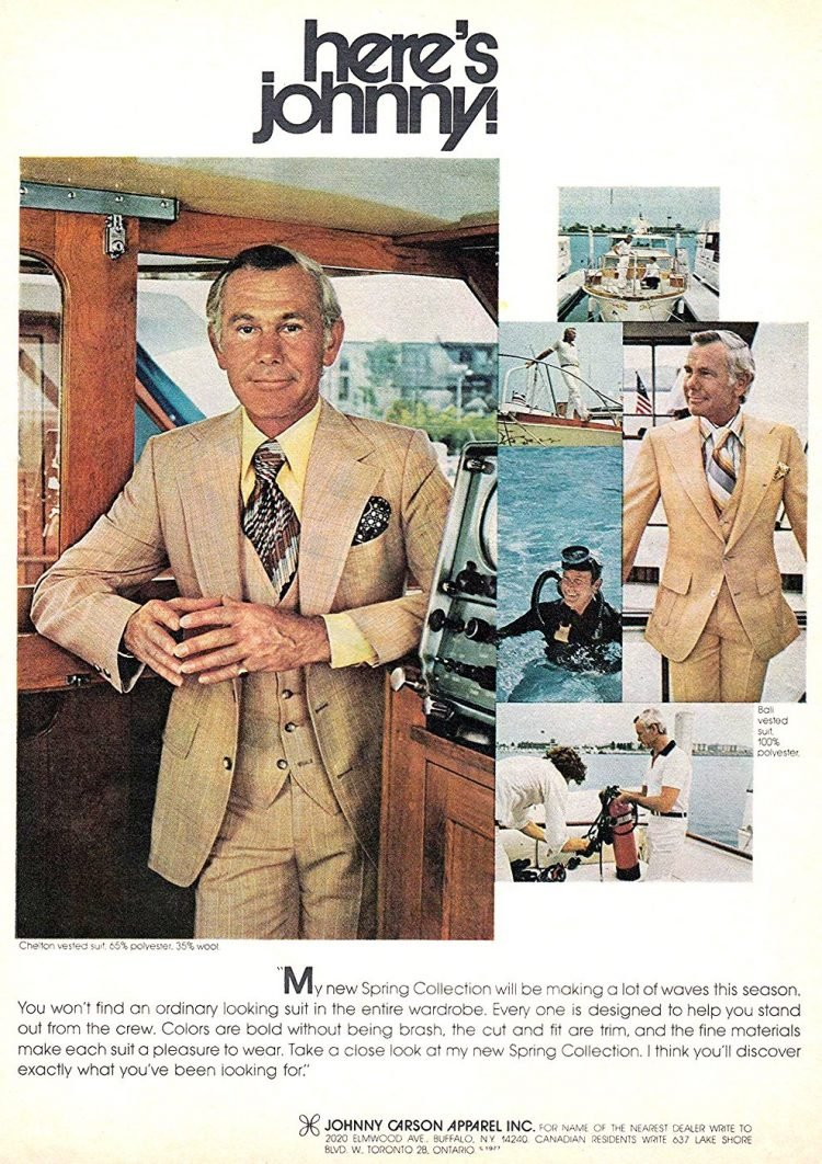 Johnny Carson's polyester suits from the 70s