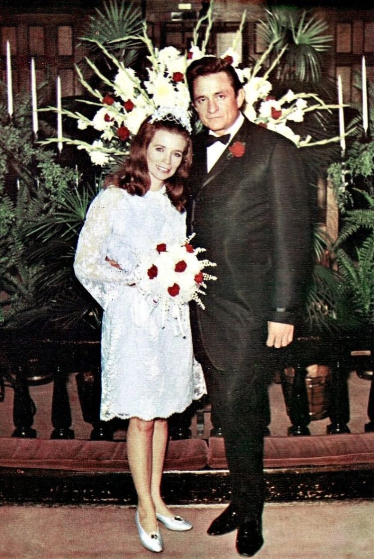 Johnny Cash and June Carter got married (1968)