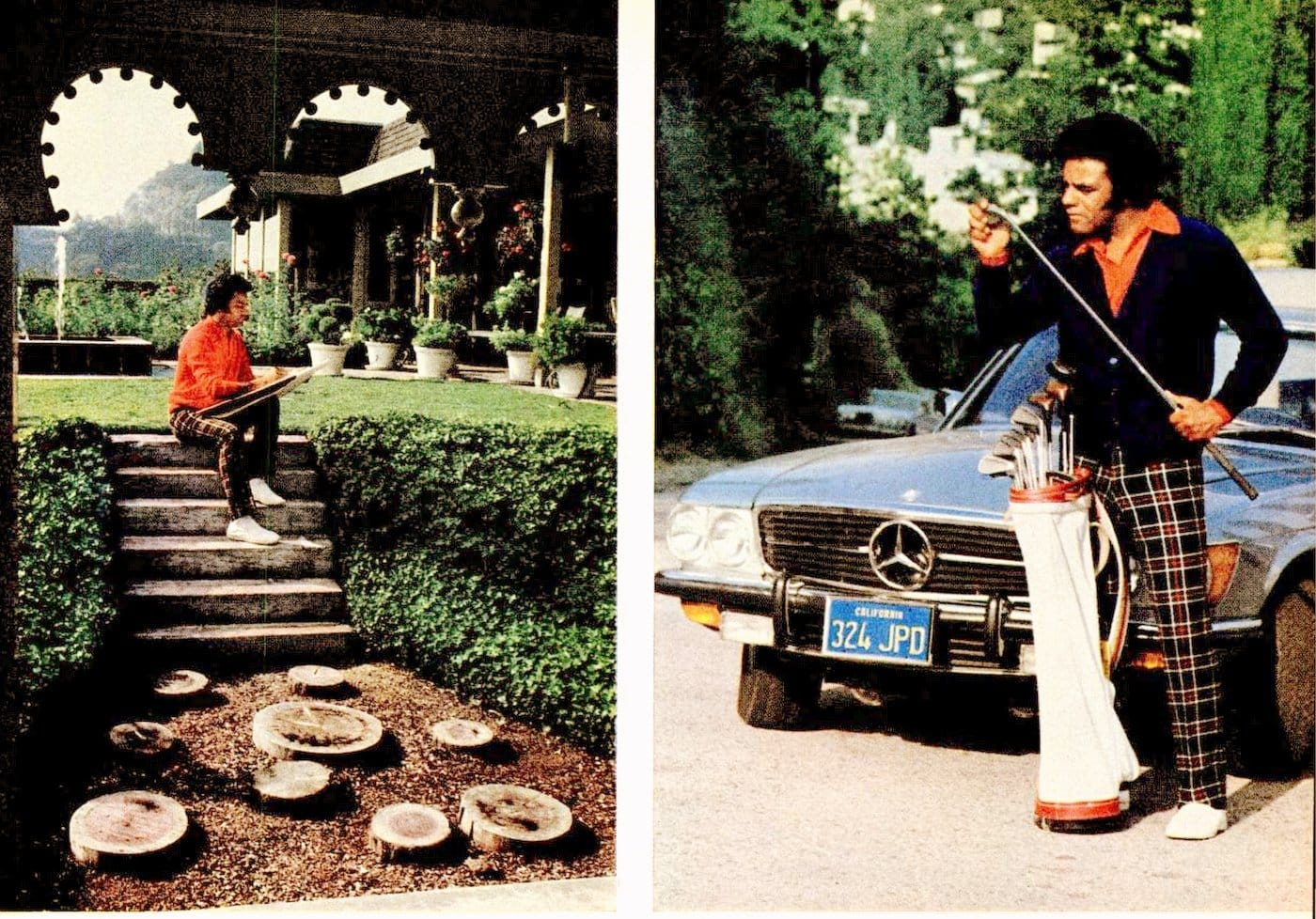 Johnny Mathis' Hollywood home in the 1970s (1)