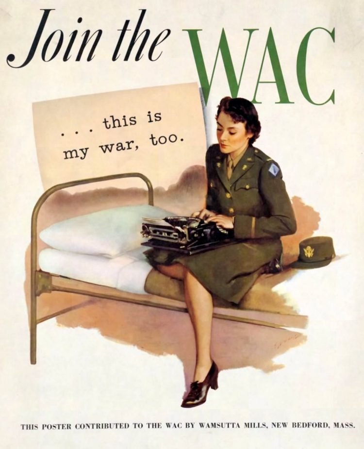 Join the WAC - Woman with typewriter
