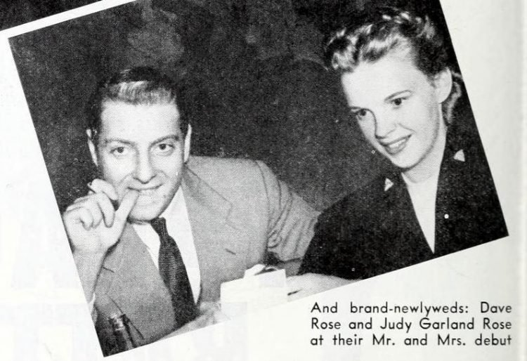 Judy Garland Rose and Dave Rose in 1942
