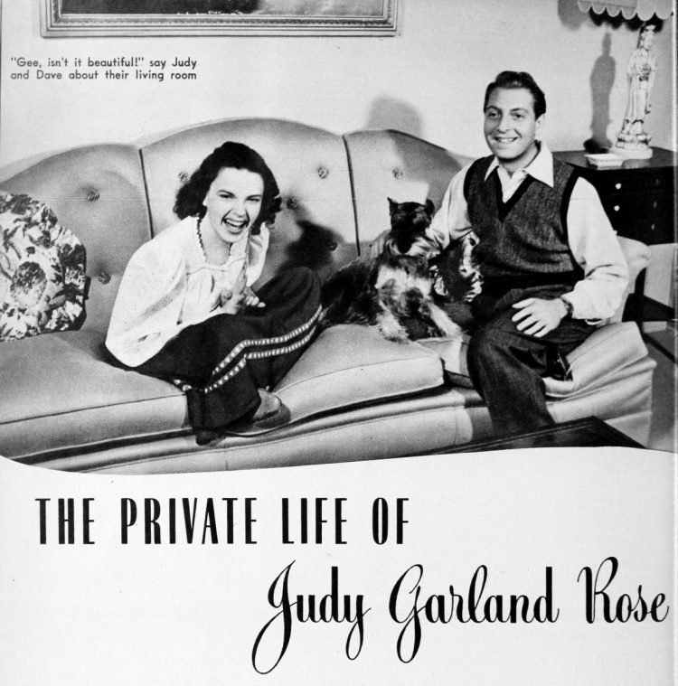 Judy Garland Rose at home in 1942