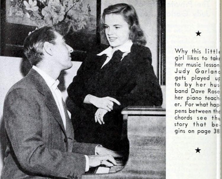 Judy Garland and Dave Rose piano 1942