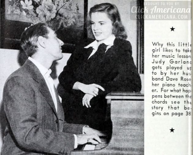Judy Garland and Dave Rose piano 1942