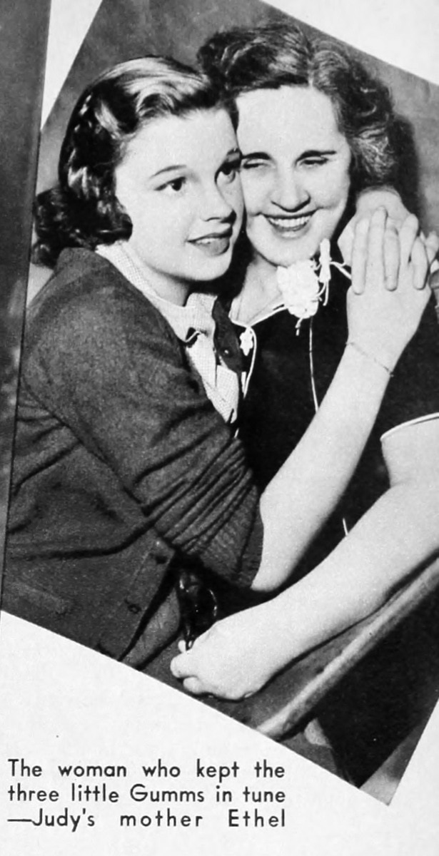 Judy Garland with mother Ethel