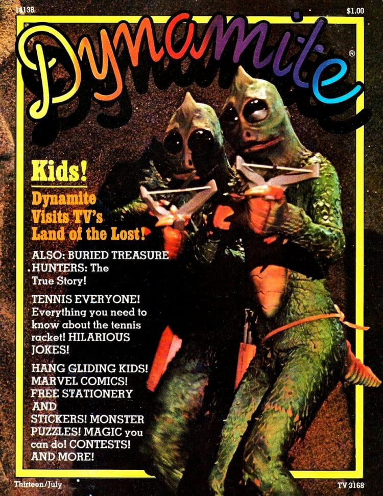 July 1975 Dynamite magazine Krofft Land of the Lost Sleestaks cover