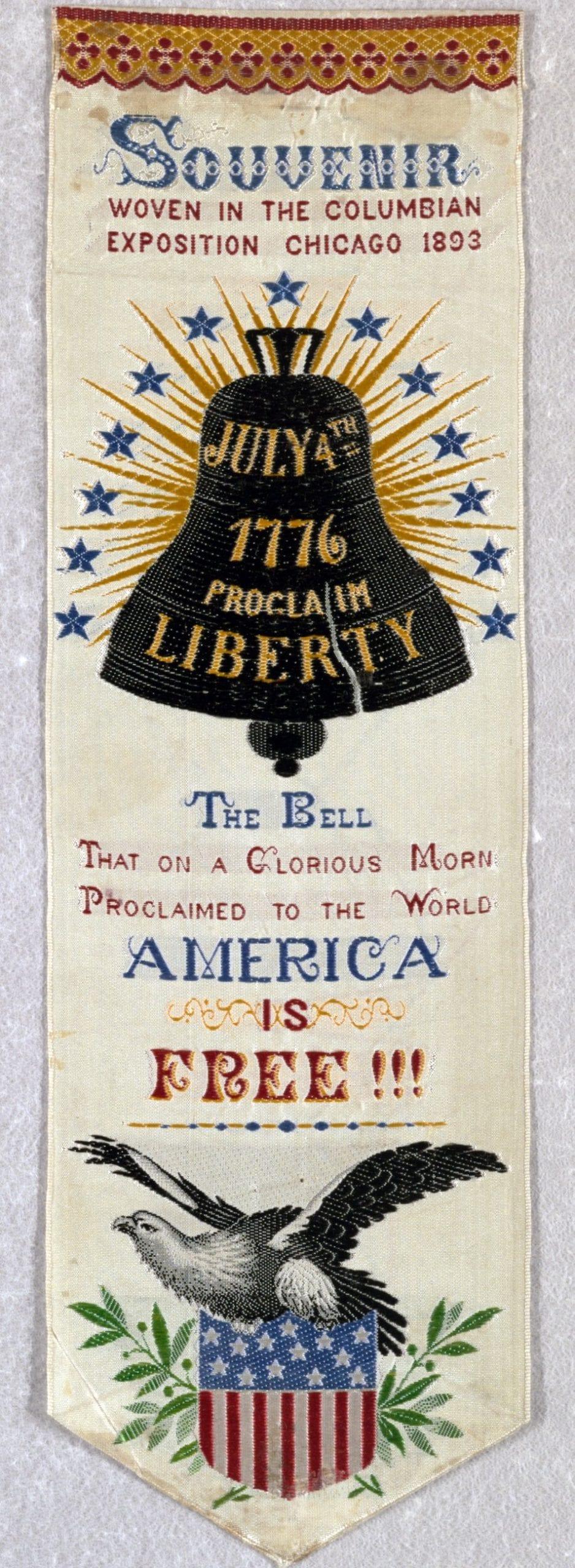 July 4th 1776 - Proclaim Liberty (1893) Ribbon banner