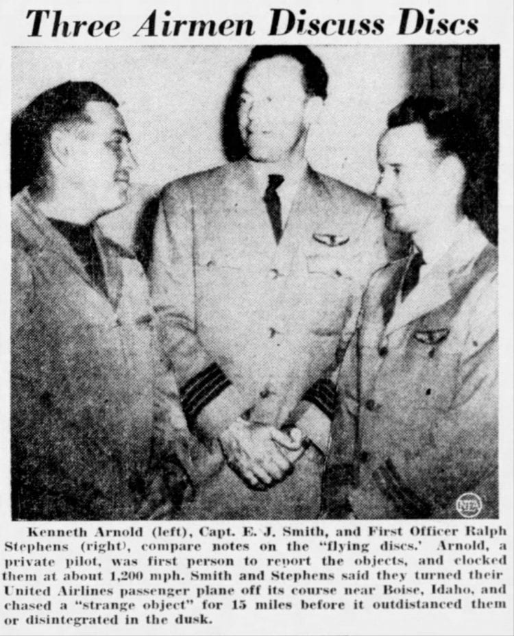 July 7 1947 Roswell NM flying saucer news - Airmen