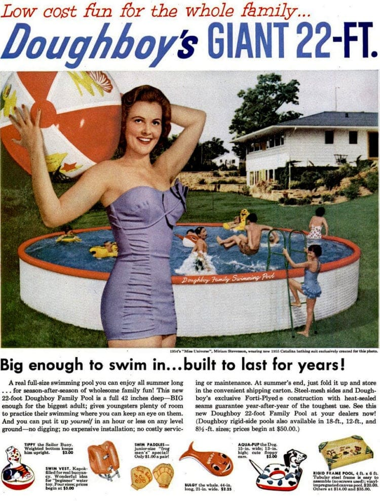 1955's vintage Doughboy swimming pool