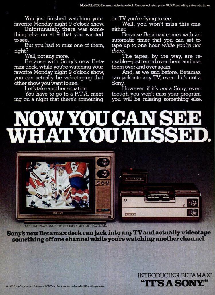 Jun 14, 1976 Introducing Sony Betamax